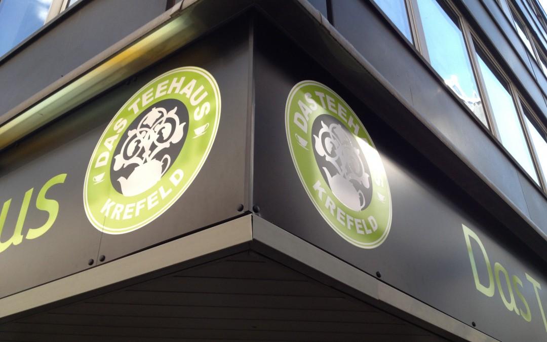 Schilder für Teehaus Krefeld